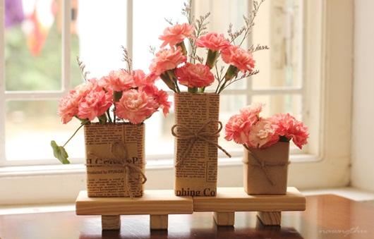 Cách làm lọ hoa xinh xắn cực đơn giản