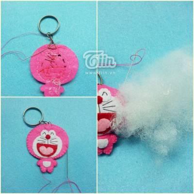 Cách làm móc chìa khóa handmade Doremon cực dễ thương